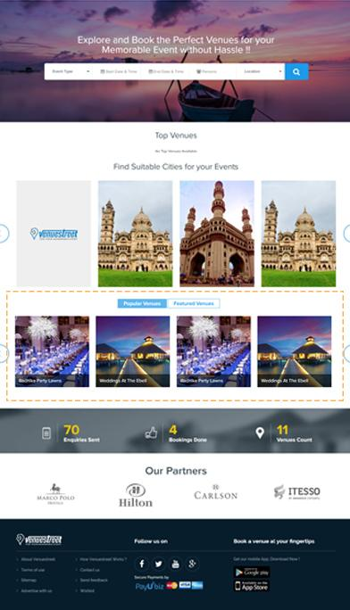 Home Page: Featured Venues in Ahmedabad