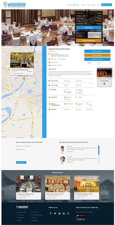Venue Detail Page: Your Advertise Here